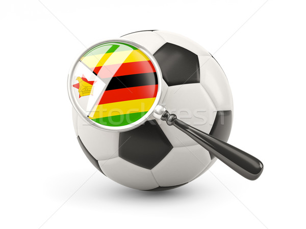 Football pavillon Zimbabwe isolé blanche Photo stock © MikhailMishchenko