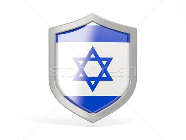シールド アイコン フラグ イスラエル 孤立した 白 ストックフォト © MikhailMishchenko