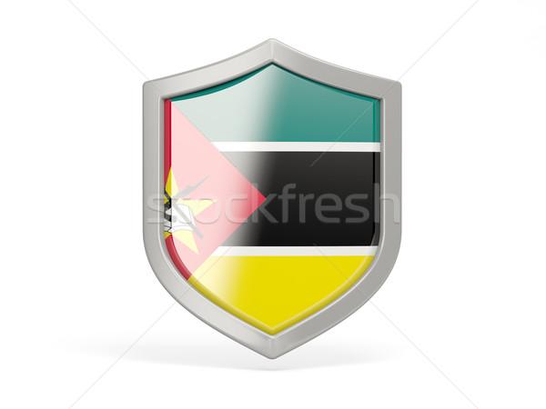 Shield icon with flag of mozambique Stock photo © MikhailMishchenko