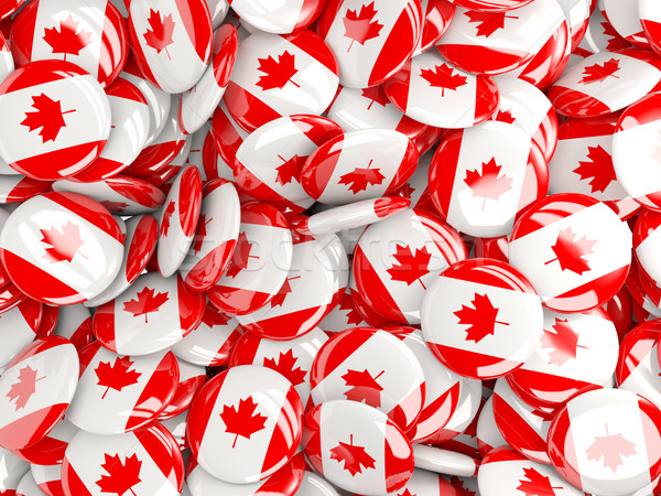 Background with round pins with flag of canada Stock photo © MikhailMishchenko