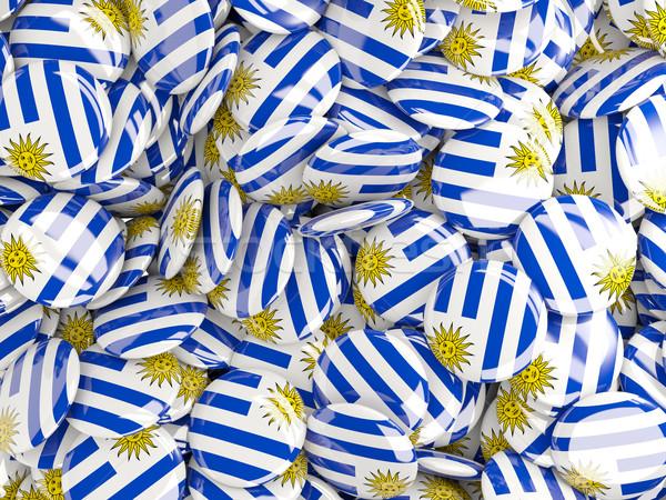 Zászló Uruguay világ háttér utazás vidék Stock fotó © MikhailMishchenko