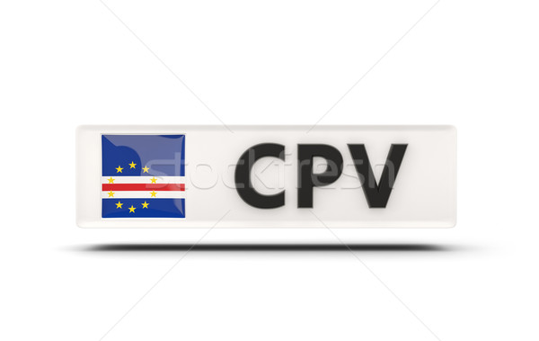 Square icon with flag of cape verde Stock photo © MikhailMishchenko