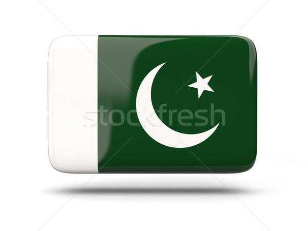 Kare ikon bayrak Pakistan gölge imzalamak Stok fotoğraf © MikhailMishchenko