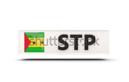 Szeretet Szenegál felirat izolált fehér zászló Stock fotó © MikhailMishchenko