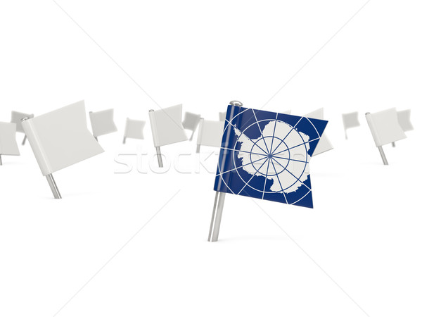 Square pin with flag of antarctica Stock photo © MikhailMishchenko