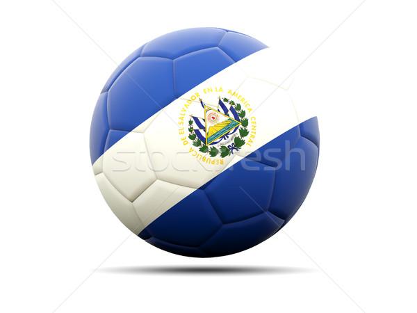 Football with flag of el salvador Stock photo © MikhailMishchenko