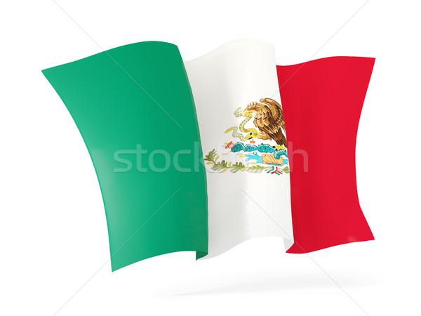 Banderą Meksyk 3d ilustracji odizolowany biały Zdjęcia stock © MikhailMishchenko