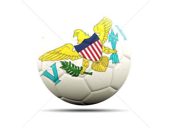 футбола флаг Виргинские о-ва 3d иллюстрации Футбол спорт Сток-фото © MikhailMishchenko