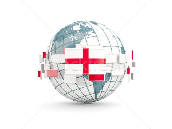 Mondo bandiera Inghilterra isolato bianco illustrazione 3d Foto d'archivio © MikhailMishchenko