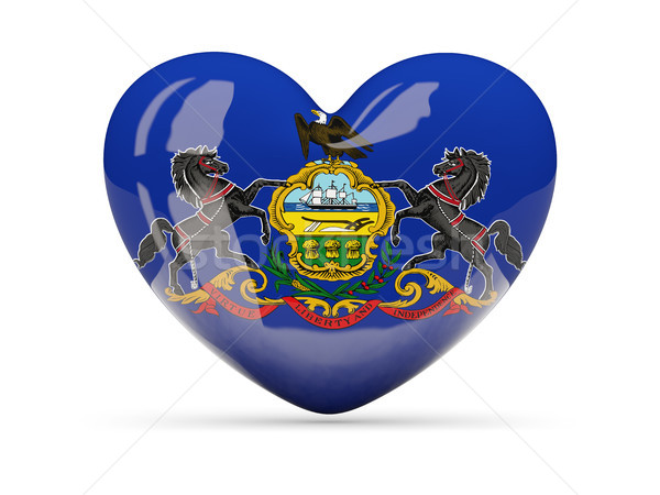 Flag of pennsylvania, US state heart icon Stock photo © MikhailMishchenko