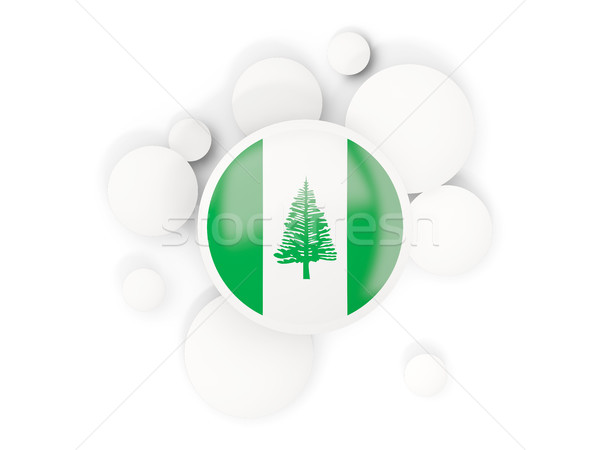 Round flag of norfolk island with circles pattern Stock photo © MikhailMishchenko