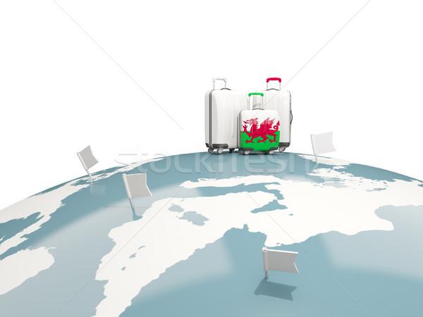 Csomagok zászló Wales három szatyrok felső Stock fotó © MikhailMishchenko