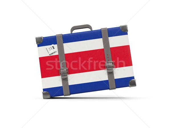 Bagaglio bandiera Costarica valigia isolato bianco Foto d'archivio © MikhailMishchenko