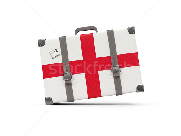 Luggage with flag of england. Suitcase isolated on white Stock photo © MikhailMishchenko