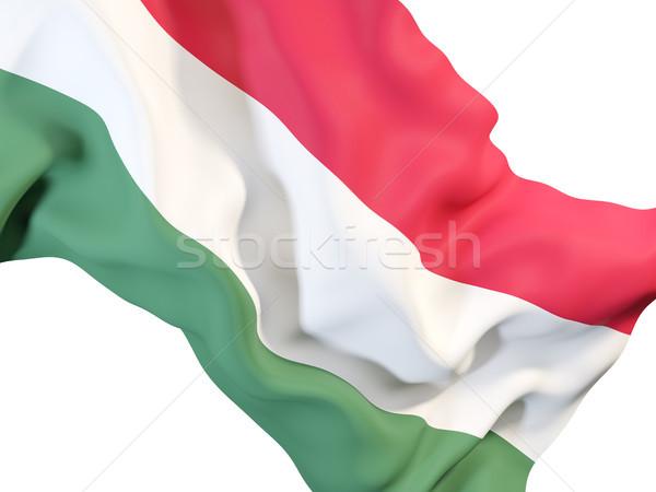 Waving flag of hungary Stock photo © MikhailMishchenko