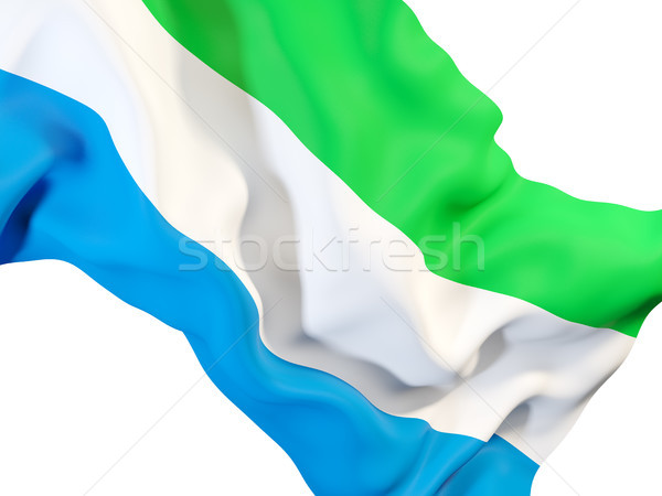 Waving flag of sierra leone Stock photo © MikhailMishchenko