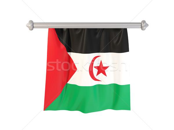 Bandera occidental sáhara aislado blanco 3d Foto stock © MikhailMishchenko