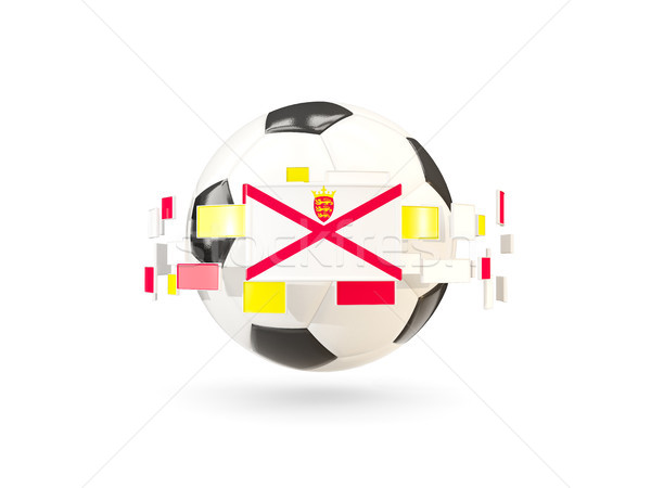 Soccer ball with line of flags. Flag of jersey Stock photo © MikhailMishchenko