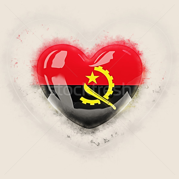 Heart with flag of angola Stock photo © MikhailMishchenko
