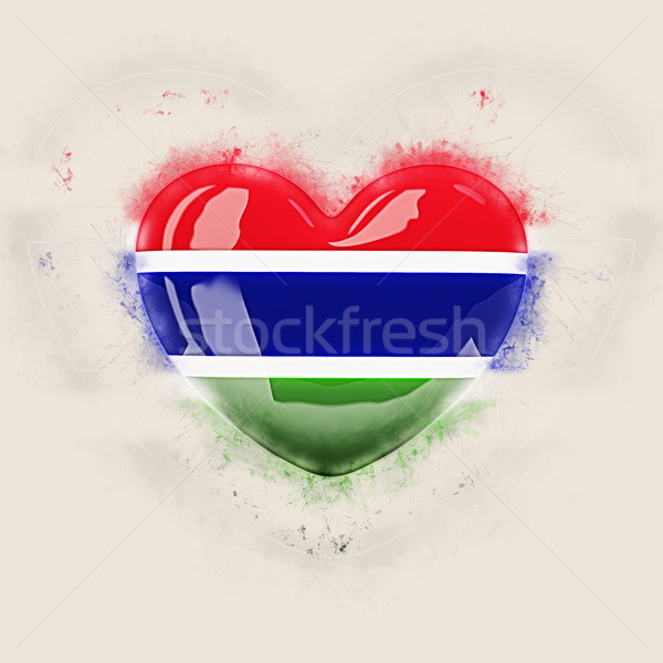 Heart with flag of gambia Stock photo © MikhailMishchenko