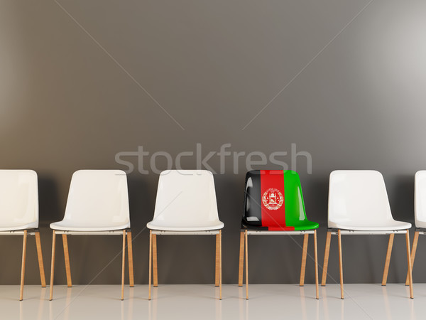 Sandalye bayrak Afganistan beyaz sandalye Stok fotoğraf © MikhailMishchenko
