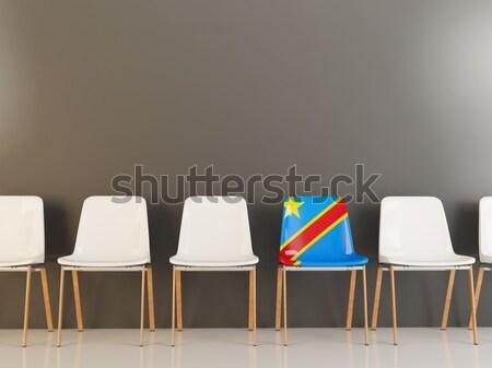 Sandalye bayrak Namibya beyaz sandalye Stok fotoğraf © MikhailMishchenko