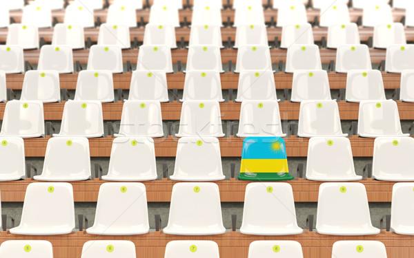 Stade siège pavillon Rwanda rangée blanche Photo stock © MikhailMishchenko