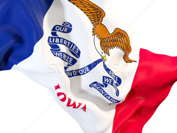 Айова флаг Соединенные Штаты местный флагами Сток-фото © MikhailMishchenko