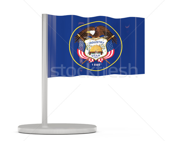 Flag pin with flag of utah. United states local flags Stock photo © MikhailMishchenko