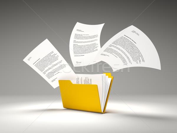 Arancione cartella file internet dati file Foto d'archivio © MikhailMishchenko