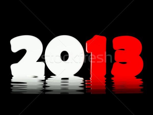 2013 új év fényes szimbólum terv felirat Stock fotó © MikhailMishchenko