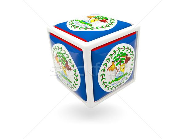 Zászló Belize kocka ikon izolált fehér Stock fotó © MikhailMishchenko