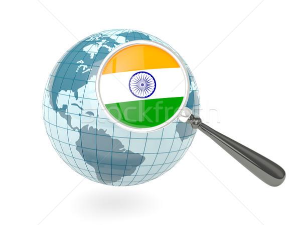 Photo stock: Pavillon · Inde · bleu · monde · isolé