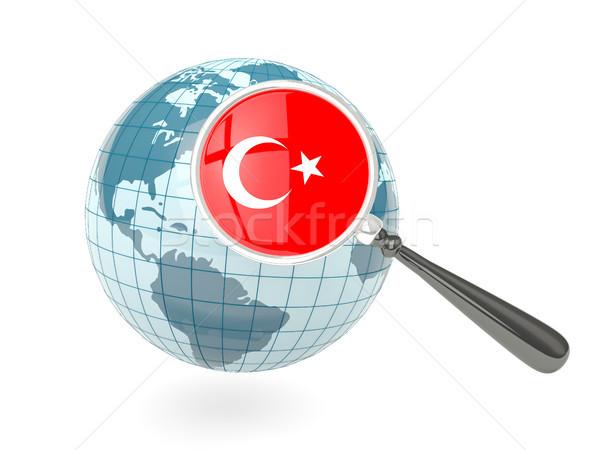 Stok fotoğraf: Bayrak · Türkiye · mavi · dünya · yalıtılmış