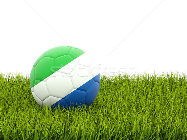 Football with flag of sierra leone Stock photo © MikhailMishchenko