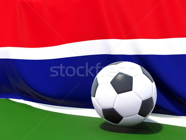 Pavillon Gambie football équipe pays Photo stock © MikhailMishchenko