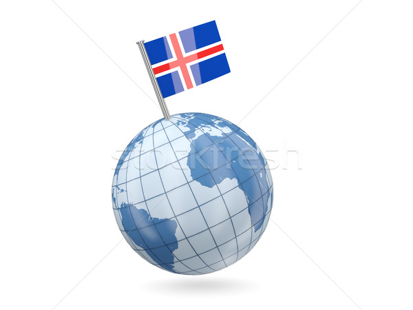 Globe with flag of iceland Stock photo © MikhailMishchenko