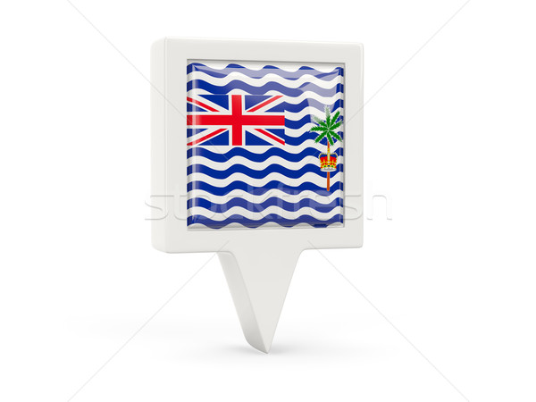 Square flag icon of british indian ocean territory Stock photo © MikhailMishchenko