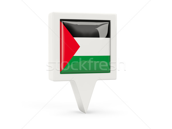 Square flag icon of palestinian territory Stock photo © MikhailMishchenko