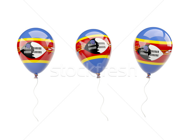Air balloons with flag of swaziland Stock photo © MikhailMishchenko