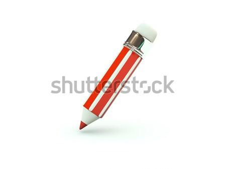 Foto stock: Lápiz · icono · rojo · oficina · educación · pintura