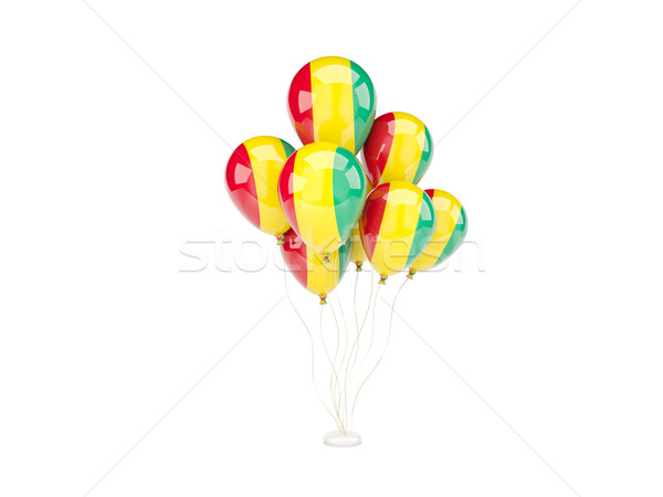 Flying balloons with flag of guinea Stock photo © MikhailMishchenko