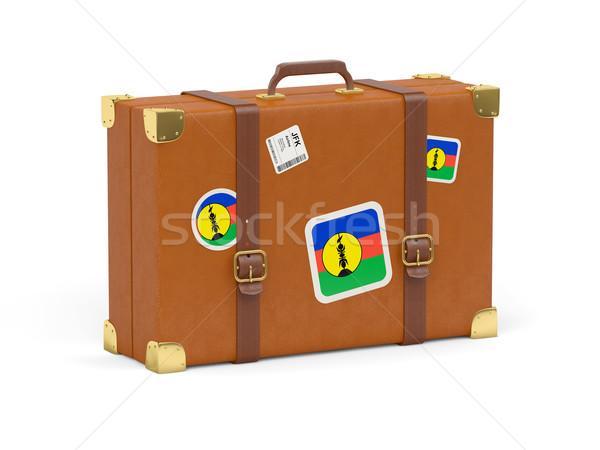Suitcase with flag of new caledonia Stock photo © MikhailMishchenko