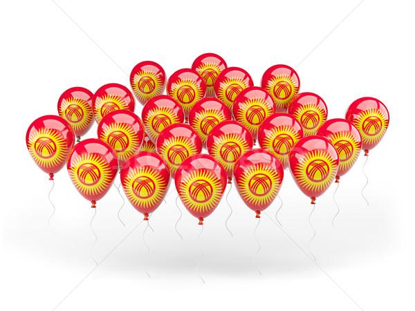 Ballonnen vlag Kirgizië geïsoleerd witte land Stockfoto © MikhailMishchenko