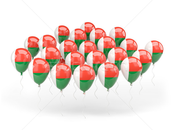 Ballonnen vlag Madagascar geïsoleerd witte land Stockfoto © MikhailMishchenko