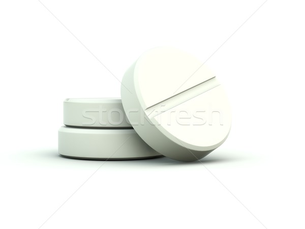 Stock photo: Pills isolated on white