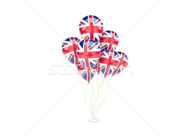 Battenti palloncini bandiera Regno Unito isolato bianco Foto d'archivio © MikhailMishchenko