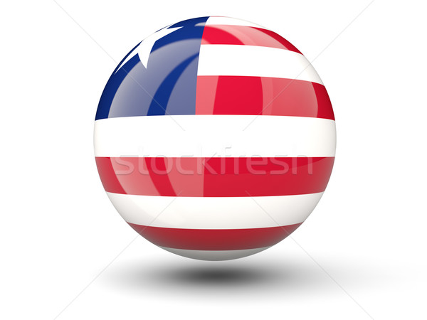 ícone bandeira Libéria isolado branco viajar Foto stock © MikhailMishchenko