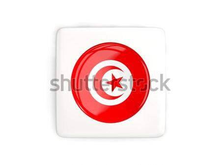 Botón bandera Azerbaiyán metal marco viaje Foto stock © MikhailMishchenko