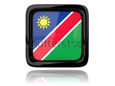 Botón bandera Namibia metal marco viaje Foto stock © MikhailMishchenko